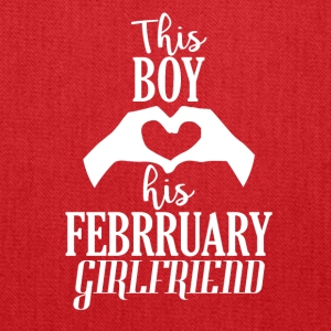 This Boy loves his February Girlfriend - Tote Bag