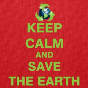 Keep Calm and Save The Earth - Tote Bag
