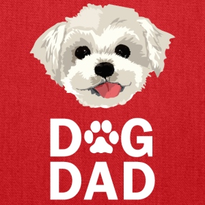 Dog Dad Maltese Funny Fathers Day Gift Paw - Tote Bag