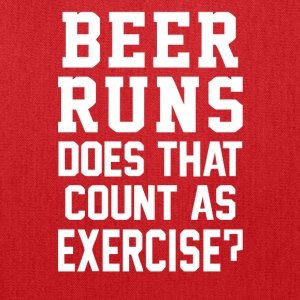 Beer Runs Does That Count As Exercise Funny - Tote Bag