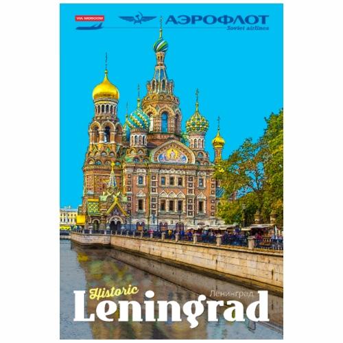 Vintage Leningrad Travel Poster - Tote Bag
