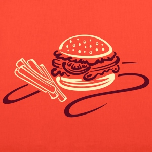 Big burger with tomato and french fries - Tote Bag