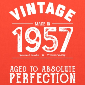 60th Birthday Gift: Vintage 1957 Aged Perfection - Tote Bag