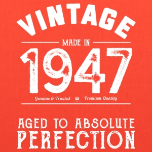 Funny 70th Birthday Gift: Vintage Made in 1947 - Tote Bag