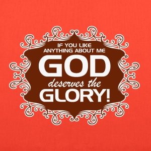 GOD_GETS_THE_GLORY--in_brown - Tote Bag