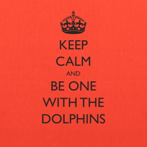 Keep Calm and Be One With The Dolphins Swim Tshirt - Tote Bag
