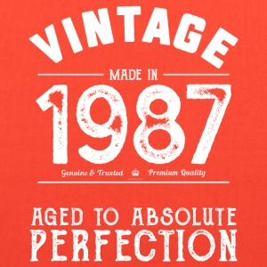 1987 Aged To Perfection 30th Birthday Present - Tote Bag