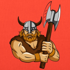 Viking ax helmet horns - Tote Bag