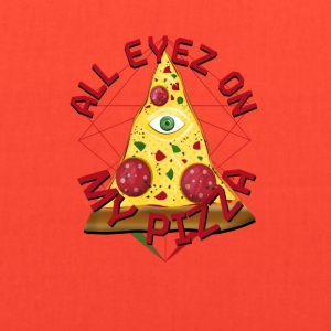 ALL EYEZ ON MY PIZZA Illuminati Italy Fun T-Shirt - Tote Bag