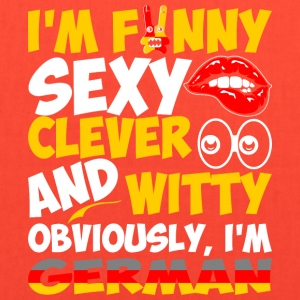 Im Funny Sexy Clever And Witty Im German - Tote Bag