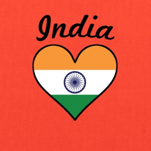 India Flag Heart - Tote Bag