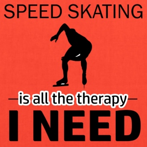 Speed skating is my therapy - Tote Bag