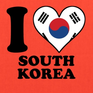 I Love South Korea Korean Flag Heart - Tote Bag