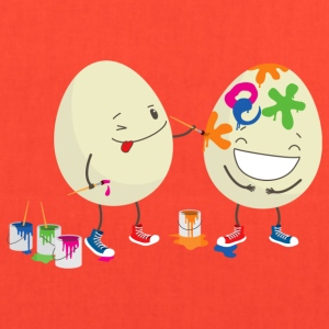 Happy Easter eggs decorating each other - Tote Bag