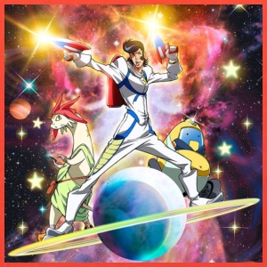 Space Dandy With the Crew - Tote Bag
