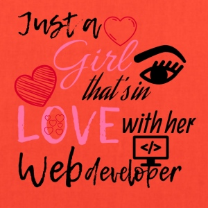 A girl that's in love with her web developer - Tote Bag
