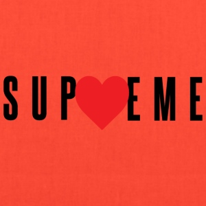 Love Supreme - Red Heart (Black Letters) - Tote Bag