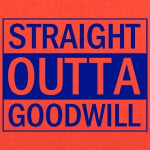 Straight Outta Goodwill Blue - Tote Bag