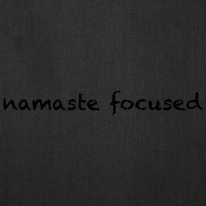 namaste focused pick a color - Tote Bag