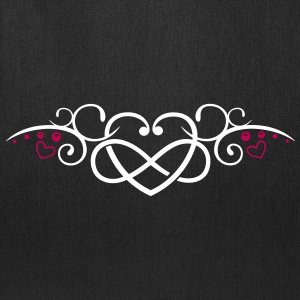 Heart with infinity, Tribal & tattoo style. - Tote Bag