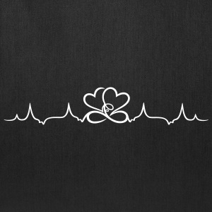 Heartbeat, two hearts with infinity - Tote Bag