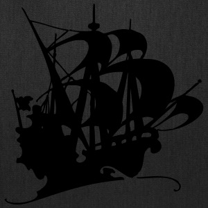 Pirate ship silhuette 3 - Tote Bag