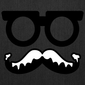 moustache - glasses - santa - Tote Bag