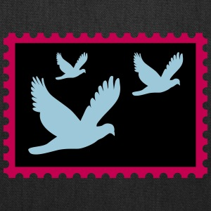 flying doves on a stamp - Tote Bag