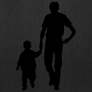 Walking father and son - Tote Bag