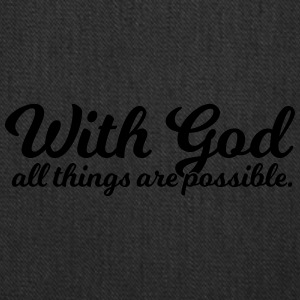With God All Things Are Possible - Tote Bag