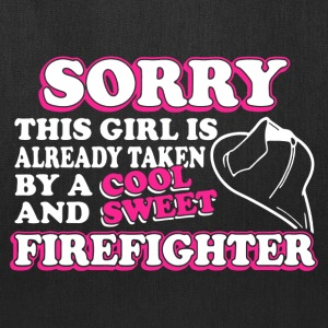 Taken By Sweet Firefighter Shirt - Tote Bag