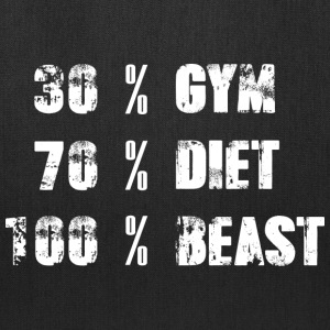 30% Gym - 70% Diet - 100% Beast - Tote Bag