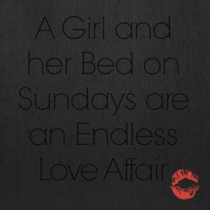 A Girl and her Bed on Sundays are Endless Love - Tote Bag
