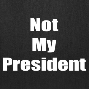 Not My President (white text) - Tote Bag