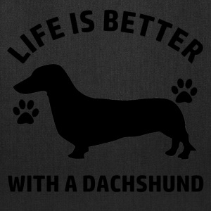 dachshund dog design - Tote Bag