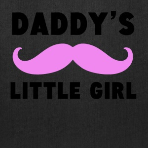 Daddy's Little Girl Mustache - Tote Bag