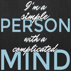 I'm a simple person with a complicated mind - Tote Bag