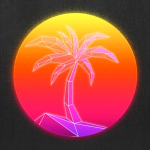 Sunset Palmtree, 80's Style - Tote Bag