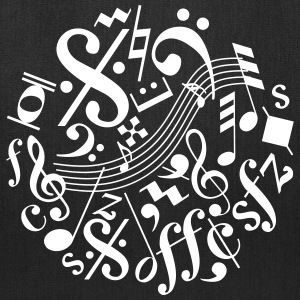 Music Notes and Signs - Tote Bag