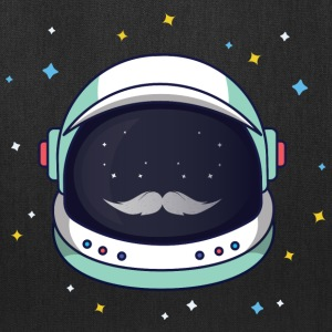 Astronaut Loves Mustache - Tote Bag