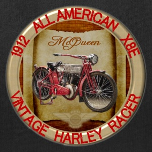 1912-X8E All American Vintage Motorcycle - Tote Bag