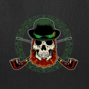 Leprechaun Skull with Crossed Pipes - Tote Bag