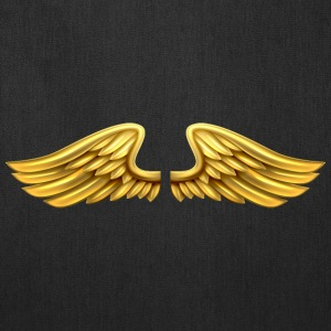 golden-angel-wings-angelic-wings - Tote Bag