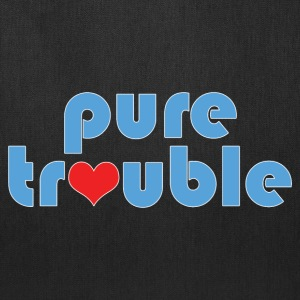 Humorous Pure Trouble and Heart Design - Tote Bag