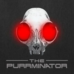 THE PURRMINATOR LOGO W/SKULL - Tote Bag