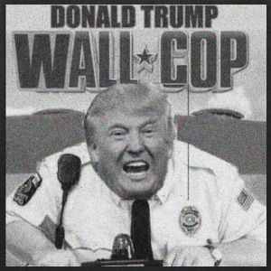 DONALD TRUMP WALL COP - Tote Bag