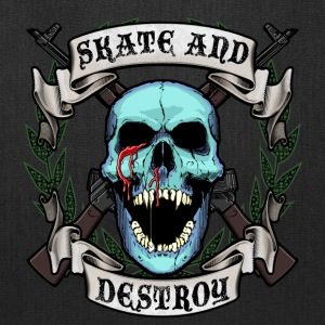 Skate and Destroy Skull - Tote Bag