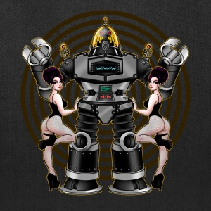 Retro 50's Robot And Fishnet Friends - Tote Bag