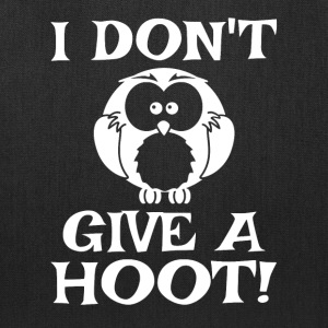 I Don't Give A Hoot - Tote Bag
