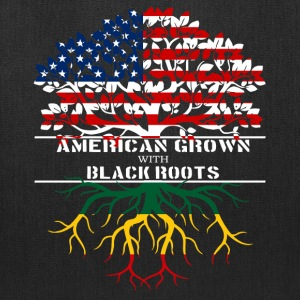 American Grown With Black Roots - Tote Bag